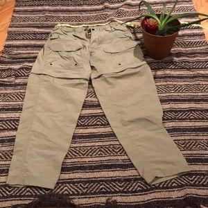 REI classic men's medium convertible travel pants